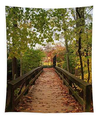 Decorate With Leaves - Holmdel Park Tapestry