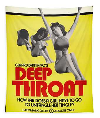 Deep Throat Movie Poster 1972 Tapestry