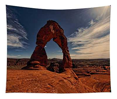 Delicate Arch Afternoon Glow Tapestry
