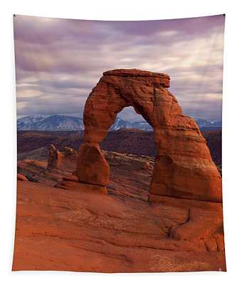 Delicate Arch Dusk Tapestry