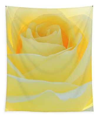 Delicate Yellow Rose Tapestry