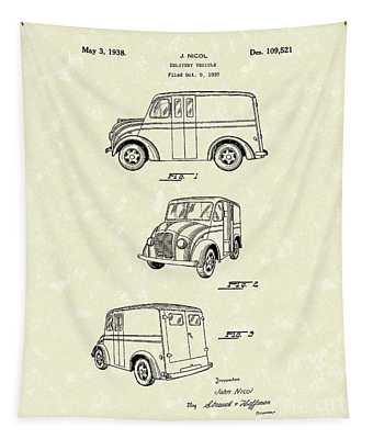 Delivery Vehicle 1938 Patent Art  Tapestry