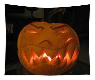 Demented Mister Ullman Pumpkin 2 Tapestry