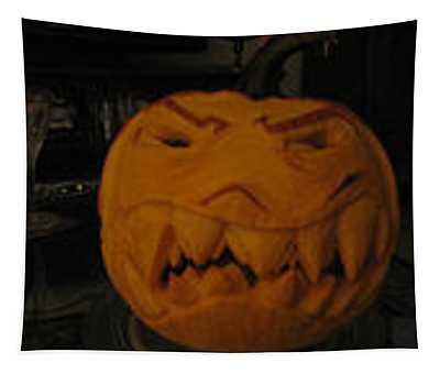 Demented Mister Ullman Pumpkin 3 Tapestry