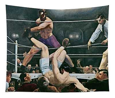 Dempsey V Firpo In New York City Tapestry