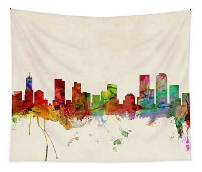 Denver Colorado Skyline Tapestry