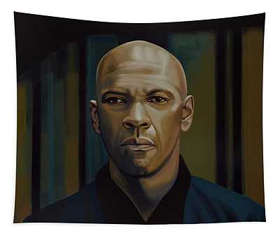 Denzel Washington In The Equalizer Painting Tapestry