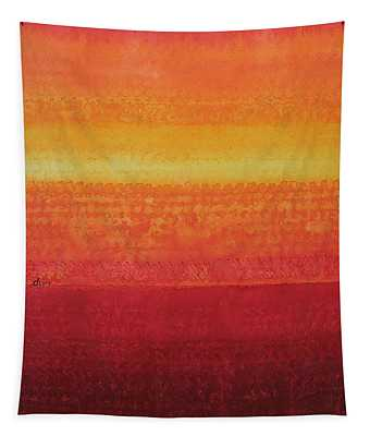 Desert Horizon Original Painting Tapestry