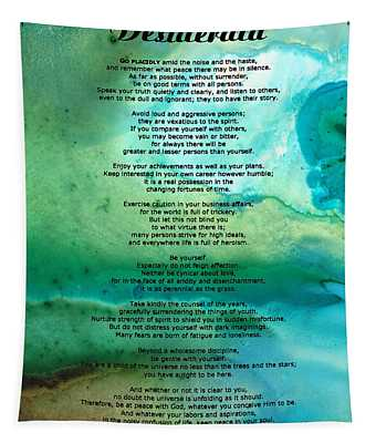Desiderata 2 - Words Of Wisdom Tapestry