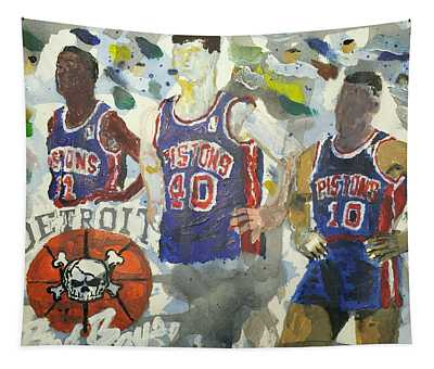 Detroit Pistons Bad Boys  Tapestry