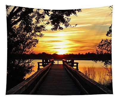 Disappearing Sun  Tapestry