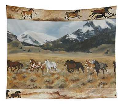 Discovery Horses Framed Tapestry