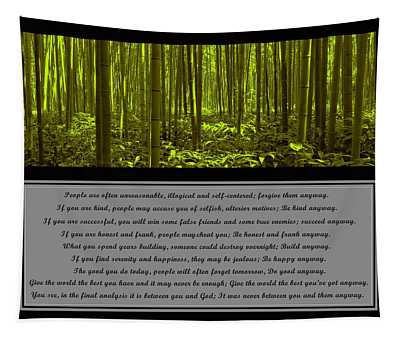 Do It Anyway Bamboo Forest Tapestry