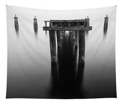 Dock At Twilight Tapestry