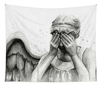 Doctor Who Weeping Angel Don't Blink Tapestry