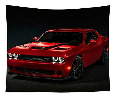 Dodge Challenger S R T Hellcat Tapestry