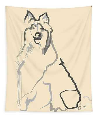 Dog - Lassie Tapestry