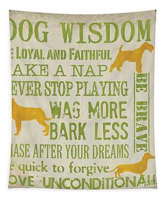 Dog Wisdom Tapestry