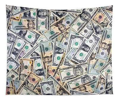 Dollar Background Tapestry