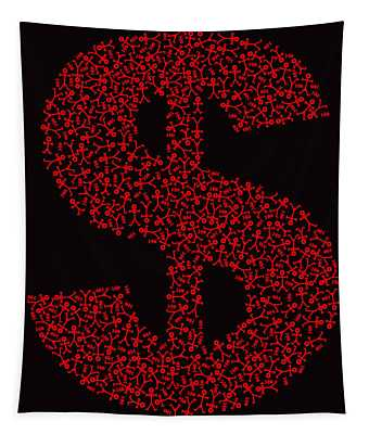 Dollar People Icon Tapestry