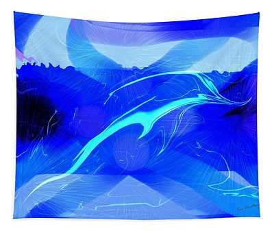Dolphin Abstract - 1 Tapestry