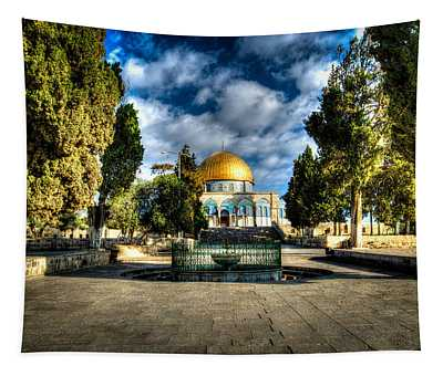 Dome Of The Rock Hdr Tapestry