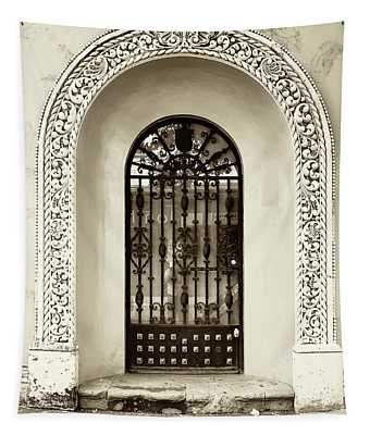 Door With Decorated Arch Tapestry