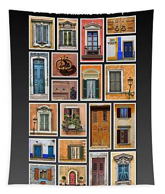 Doors And Windows Of Europe Tapestry