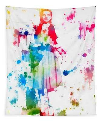 Dorothy Wizard Of Oz Paint Splatter Tapestry