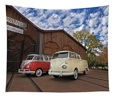 Double Cab And 23 Window Tapestry