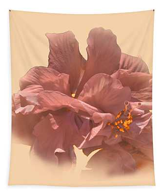 Double Hibiscus Portrait Tapestry