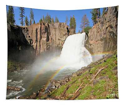 Double Rainbow Falls Tapestry