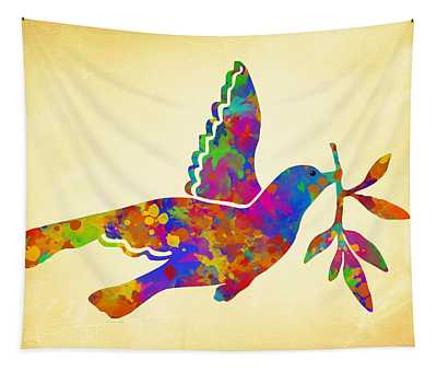 Dove With Olive Branch Tapestry