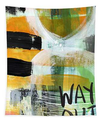 Downtown- Abstract Expressionist Art Tapestry