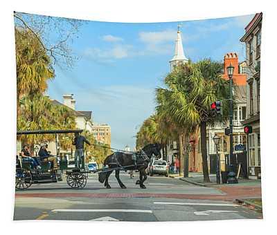 Downtown Charleston Stroll Tapestry