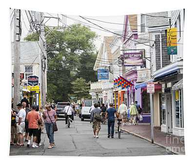 Downtown Scene In Provincetown On Cape Cod In Massachusetts Tapestry
