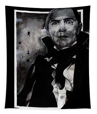 Dracula In Black And White Tapestry