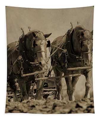 Draft Horses Tapestry