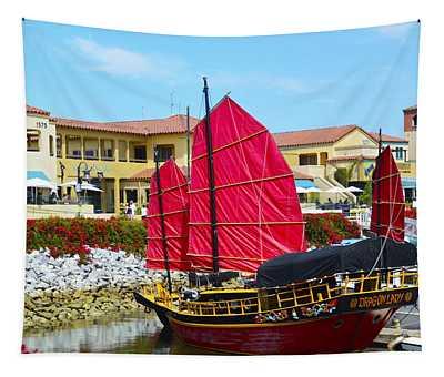 Dragon Lady At Venture Harbor Tapestry