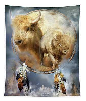Dream Catcher - Spirit Of The White Buffalo Tapestry