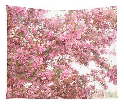 Dreamy Pink South Carolina Spring Apple Blossom Trees Tapestry