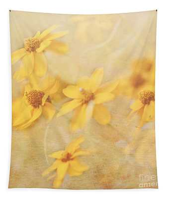 Dreamy Yellow Coreopsis Tapestry