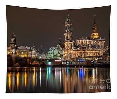 Dresden By Night Tapestry