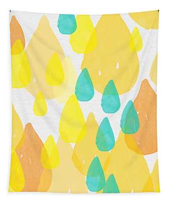 Drops Of Sunshine- Abstract Painting Tapestry