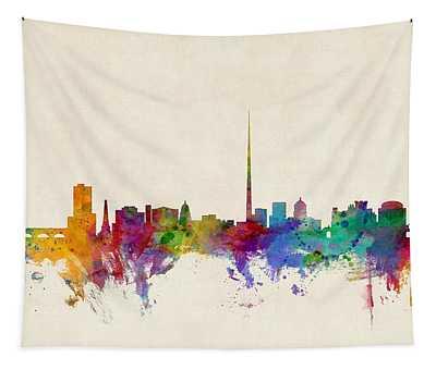 Dublin Ireland Skyline Tapestry