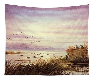 Duck Hunting Companions Tapestry