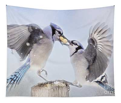 Dueling Jays Tapestry