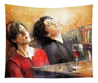 Dylan Moran And Tamsin Greig In Black Books Tapestry