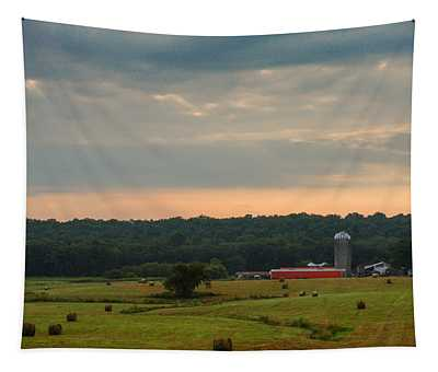 Early Morning On The Farm Tapestry