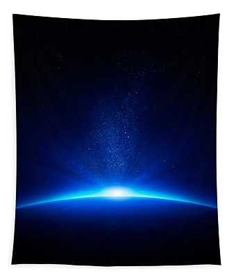 Earth Sunrise In Space Tapestry